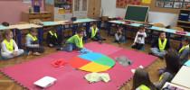 Letni časi in obisk otrok iz vrtca Jadvige Golež v 1. D razredu (8.11.2016)