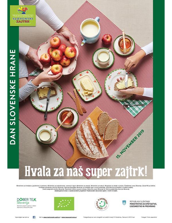 """Dan slovenske hrane in """"Tradicionalni slovenski zajtrk"""" (15. 11. 2019)"""